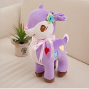 Stuffed Animal Toys Deer Doll-Judy Dre am Purple Deers Soft Cartoon Animals Toy Plush Children's Christmas Deer Dolls Birthday Gift for Kid/Girlfriend 7.8""