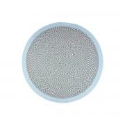 Alfombra redonda en algodón azul y gris 120 cm BRENDA - Miliboo