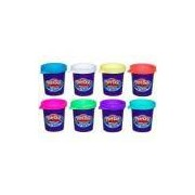 Kit Com 8 Potes De Massinha Plus Play-doh Hasbro
