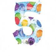 Balon folie Cifra 5 imprimat baloane 58 * 86 cm