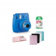 Kit Cámara Instax Mini 9 Azul Cobalto Con Papel Y Álbum