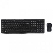 LOGITECH Bežična tastatura i miš MK270 (Crna) 920-004532