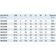 rvs-products Gaffel met linkse draadeind, M6