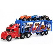 Bigfoot Monster Mover Semi Hauler Big Rig Truck With 15 Piece Play Set Toy Trucks