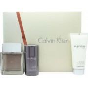 Calvin Klein Euphoria Set de Regalo 100ml EDT + 100ml Bálsamo Aftershave + 75g Desodorante en Barra