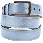Suitable Leder Gürtel Hellblau - Blau Größe 115