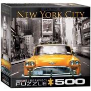 Puzzle Eurographics - New York City Yellow Cab, 500 piese XXL (56061)