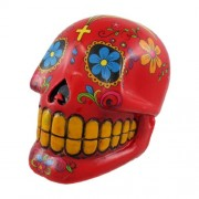 Red Day Of The Dead Sugar Skull Money Bank