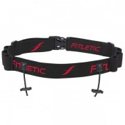 FITLETIC Race Number Holder with Gel holders BLACK/RED