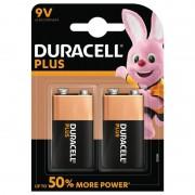 Duracell 9 Volt, Duracell Plus Power Alkaline Batterier. 2 st.