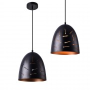 [lux.pro]® Lámpara colgante de diseño negra - cobre metal - look industrial