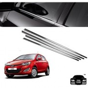 Trigcars Hyundai I20 New Type 2 Car Window Lower Garnish Chrome