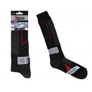 Ski Knee Sock Black: 35-38