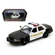 Motormax 76937 2010 Ford Crown Victoria San Gabriel Police Car 1-24 Diecast Model Car