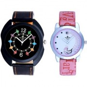 Black Dial Chain Digits And Pink Peacock Couple Casual SCK Analogue Watch By Google Hub