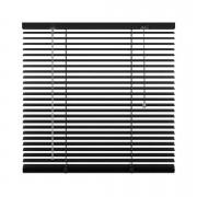 Horizontale jaloezie aluminium 25 mm - mat zwart - 80x250 cm - Leen Bakker