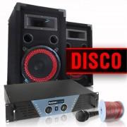 Electronic-Star Equipo DJ y PA ''Disco'' amplificador altavoces micro (DJ-Disco)