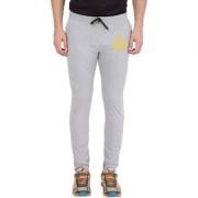 Cliths Grey Melange Slim Fit Zeep Printed Lower for Men