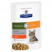 Hill's Prescription Diet Metabolic + Urinary comida húmida para gatos com frango - 12 x 85 g