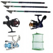 Set de trei lansete pescuit sportiv 3 6m eastshark trei mulinete si juvelnic