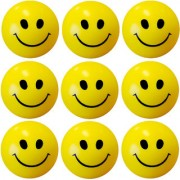GENERIC Stress Relief Smiley Soft Ball Set of 9 PC