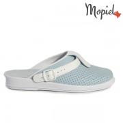 Papuci medicinali din piele naturala 74-04/albastru-alb