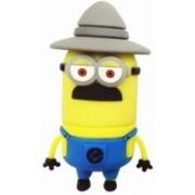 Microware Hat Shape Cartoon 8 GB Pen Drive(Yellow)