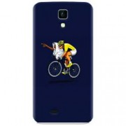 Husa silicon pentru Allview P5 Life ET Riding Bike Funny Illustration