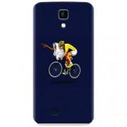 Husa silicon pentru Allview P5 Life ET Riding Bike Funny Illustration