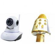 Zemini Wifi CCTV Camera and WS 858 Microphone Karake With Bluetooth Speaker for LG OPTIMUS L3 II DUAL(Wifi CCTV Camera with night vision |WS 858 Microphone Karake With Bluetooth Speaker)