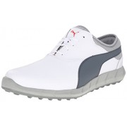 Puma Men s Ignite Spikeless Golf Shoe White/Turbulence/High Risk Red 7.5 D(M) US