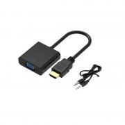 Cablu convertor HDMI+audio la VGA+audio