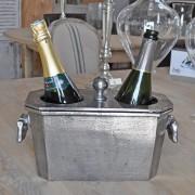 Seau à Champagne 2 bouteilles 22x15x35 cm