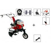 Motocultor Prorun PT 750-A 7CP cu Roti cauciuc,Roti metalice,ingropator,rarita,plug,suport accesorii