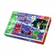 Puzzle Trefl 100 Eroii in Pijamale in Actiune