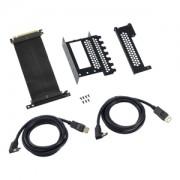 Suport intern CableMod pentru montarea verticala a placilor video, cablu Riser inclus, 2x DisplayPort