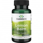 Swanson Meduňka Lékařská (Lemon Balm) 500 mg 60 kapslí