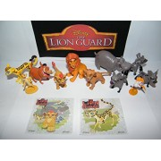 Disney The Lion Guard Deluxe Figure Set of 14 Toy Kit with Figures and Stickers Featuring the 5 Lion Guards, Pumba...