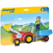 Playmobil 1.2.3: Tractor con remolque (6964)