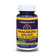 Magneziu organic cu vitamina b complex 60cps HERBAGETICA