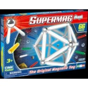 Set Constructie Magnetic 66 Piese - Supermag Maxi One Color