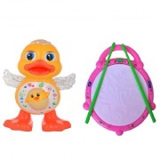 New Pinch Combo of Amazing Flash Drum with Popular Musical Dancing Duck for Kids