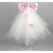 Lumanare botez funda roz Nikos Collection