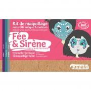 NAMAKI Kit maquillage bio 3 couleurs - Fée et Sirène