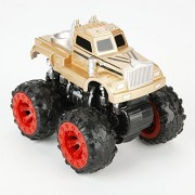 Nuo Peng Push and Go Friction Powered, 4WD Powered, high Speed Cross Country Vehicle Toys, Drag Head (Gold)
