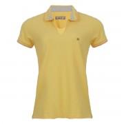 Camisa Polo Seeder Feminina Piquet Amarela