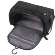 Aksharkunj Hanging Fabric Travel Cosmetic Toiletry Bag Organizer and Dopp Kit Travel Toiletry Kit(Black)