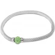 Silventi 910471517 - Zilveren Armband - Zirkonia - Groen - Zilver