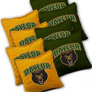 BAYLOR BEARS Cornhole Bags SET of 8 Officially Licensed ACA REGULATION Baggo Bean Bags ~ Made in the USA