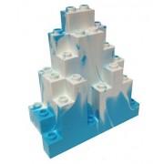 Lego Parts: Rock Panel Triangular (LURP) (Sky Blue - White Marbled Snow Pattern)